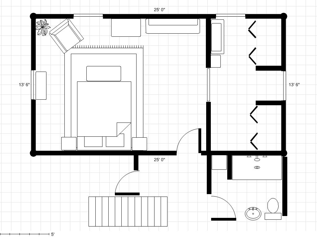 Bedroom Floor Layout Adding A Bathroom To A Dressing Area With Room Plan