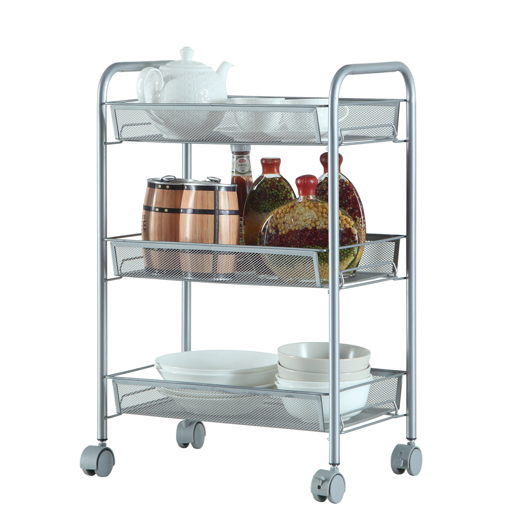 3 4 5 Tier Organizer Metal Rolling Storage Shelving Rack