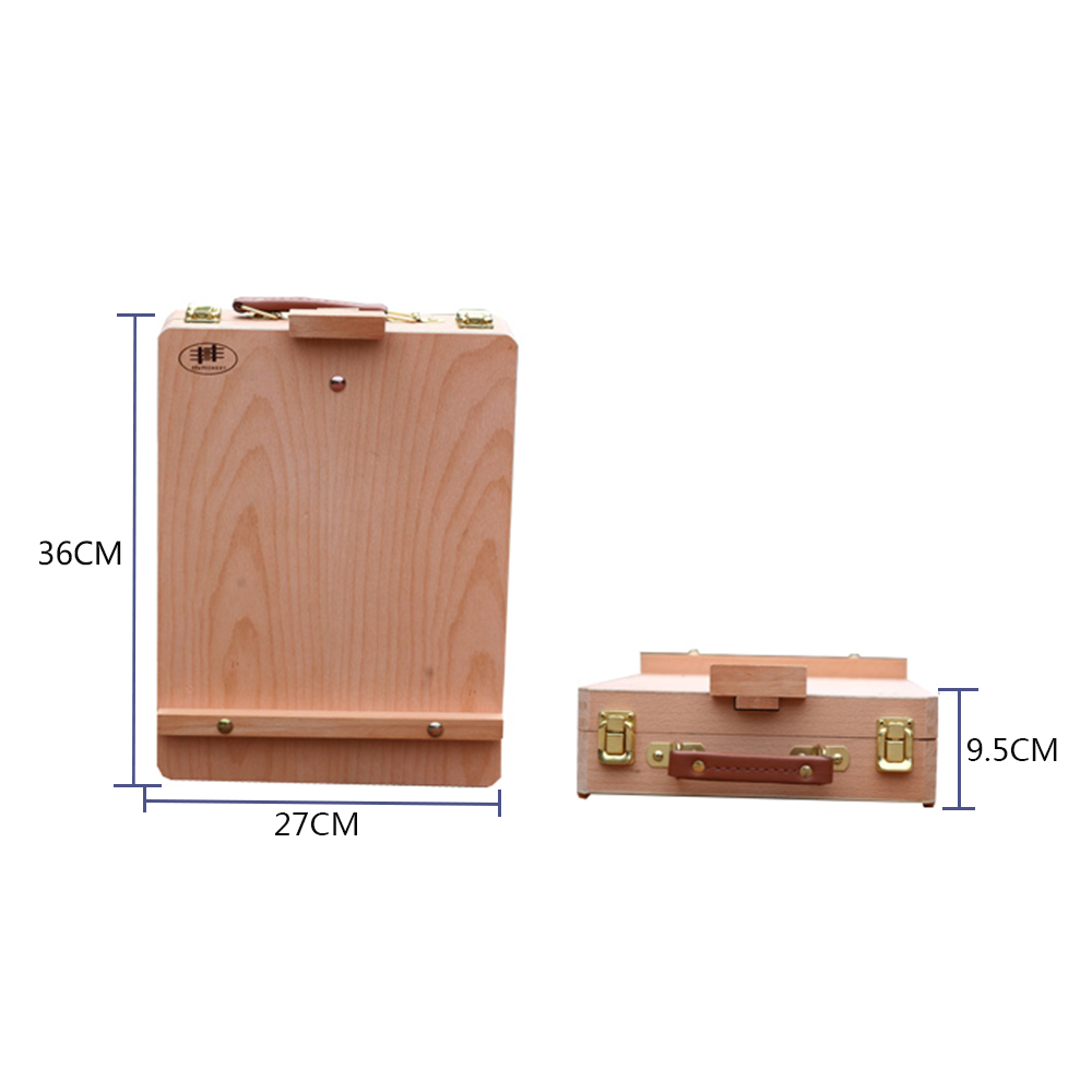 Portable Artist Wood Table Top Desk Painting Easel Drawer