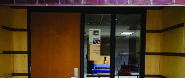 The Early Childhood Development department uses a mock daycare facility as a lab in the Helland Center basement. (Photo: Sydney Foster/City College News)