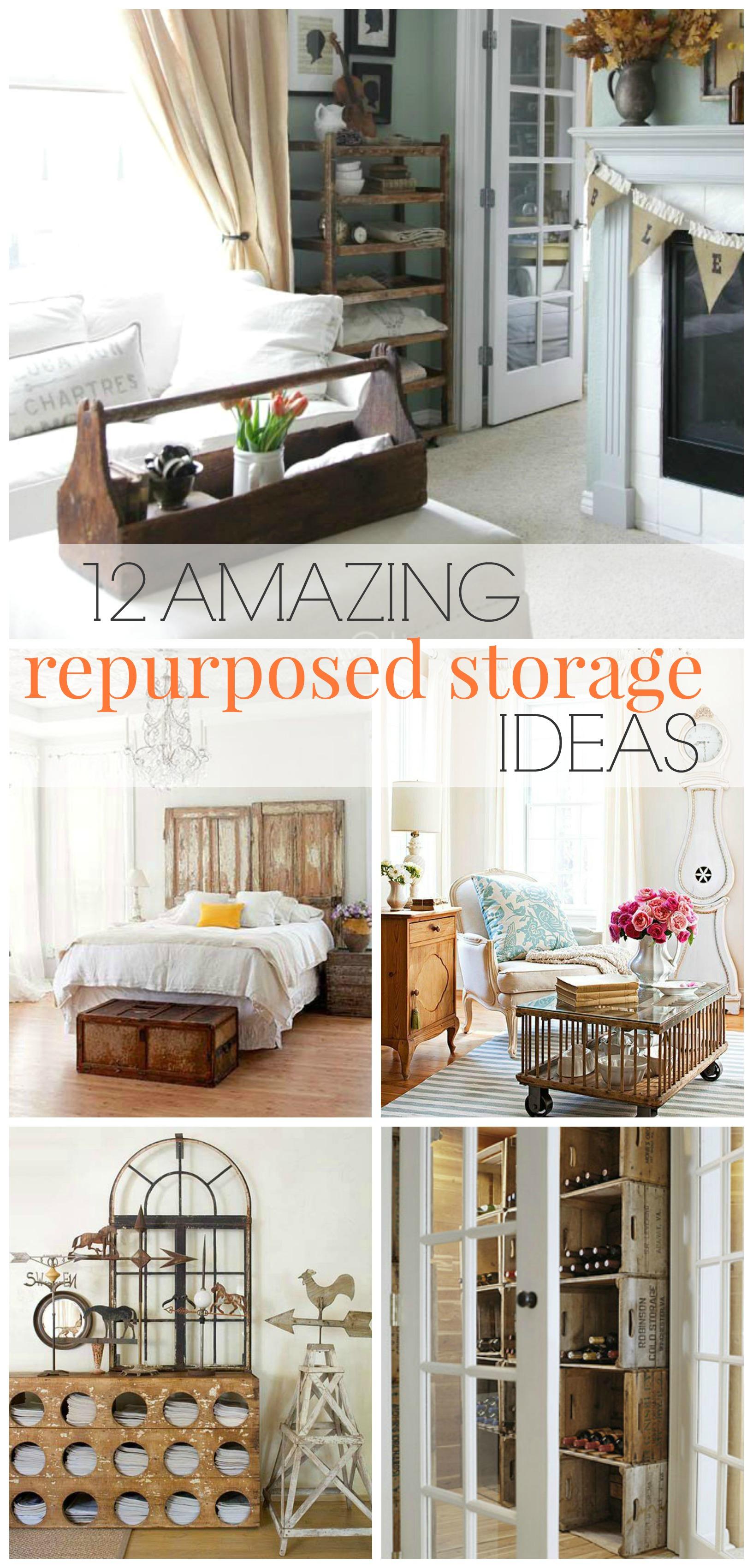 15 Repurposed Repurposed Storage Ideas