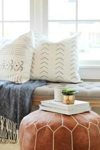 DIY Mudcloth Pillows Using A Paint Swatch - City Farmhouse