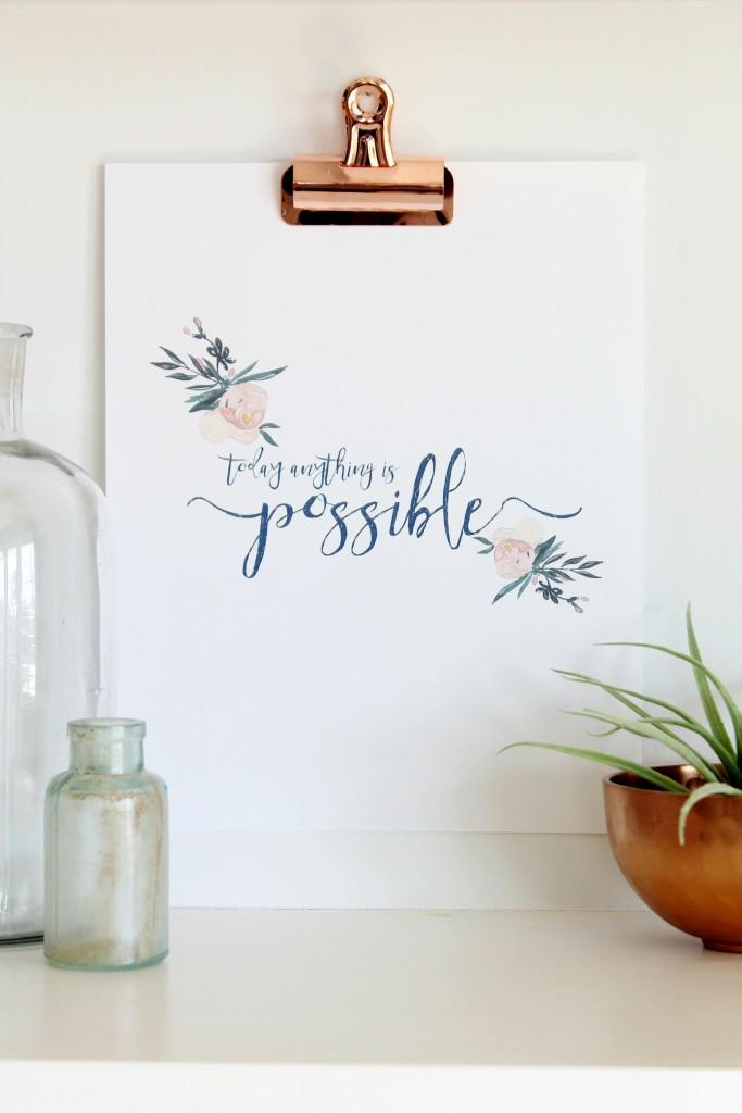 Free Inspirational Spring Printable + Hop - City Farmhouse