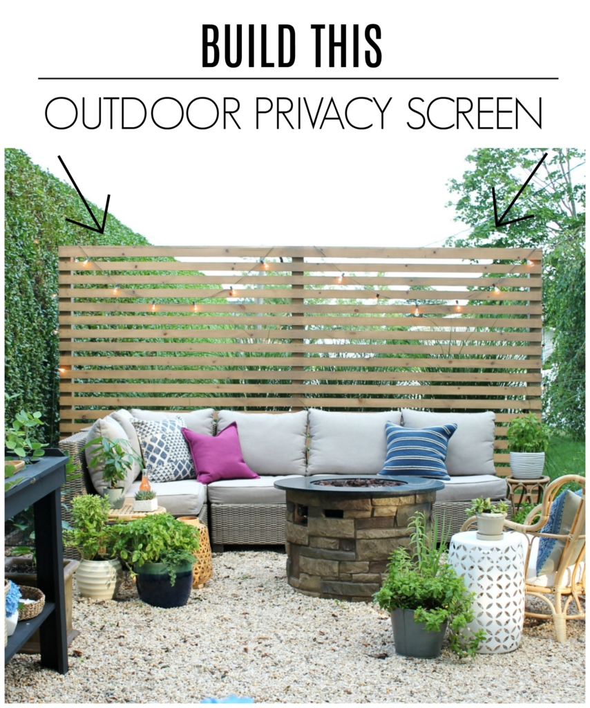Privacy Screens Outdoor Modern Wood Slatted Outdoor Privacy Screen Details On How To Build