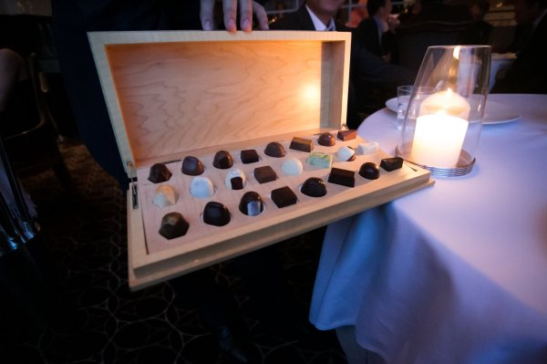 Selection of handmade Per Se Chocolates