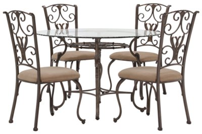 Glass Dining Table And Chairs Westcot2 Round Glass Table 4 Chairs Dining Room Dining Sets