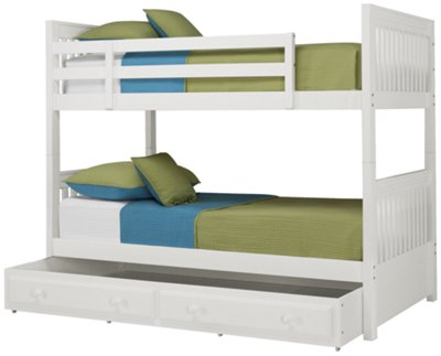 City Furniture Lauren White Bunk Storage Bed