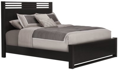What Is A Panel Bed Gianna Dark Tone Panel Bed Twin Queen And King Beds
