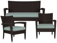 City Furniture: Zen Teal Outdoor Living Room Set