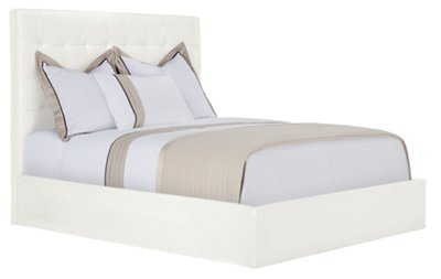 White Platform Bed Without Headboard Lynx White Bonded Leather Platform Bed Bedroom Beds City