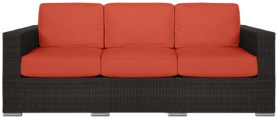 Sofa Orange City Furniture Fina Orange Sofa