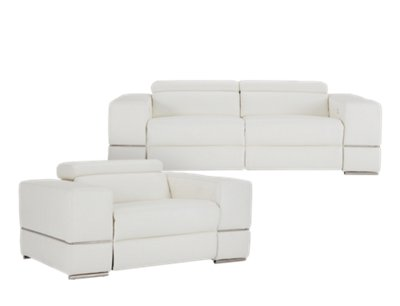 White Leather Couch Dante White Leather Power Reclining Living Room