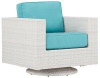 City Furniture: Biscayne Dark Teal Swivel Chair