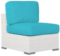 City Furniture: Biscayne Dark Teal Armless Chair