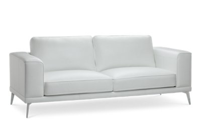 White Leather Couch Naples White Leather Sofa With Metal Legs Living Room Sofas