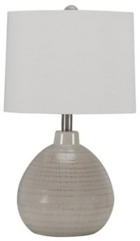 City Furniture: Ribbed Beige Table Lamp