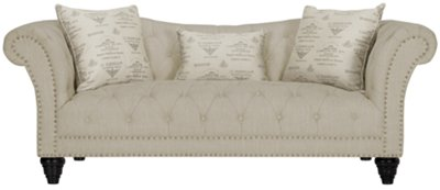 Sofa Taupe City Furniture Hutton3 Lt Taupe Linen Sofa