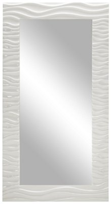 White Floor Mirror Ripple White Floor Mirror Home Accents Mirrors City Furniture