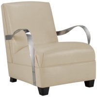 City Furniture: Markham Lt Beige Leather Accent Chair