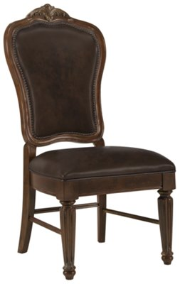 Leather Dining Room Chairs Regal Dark Tone Leather Side Chair Dining Room Chairs City