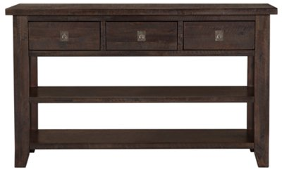 City Furniture Kona Grove Dark Tone Storage Sofa Table