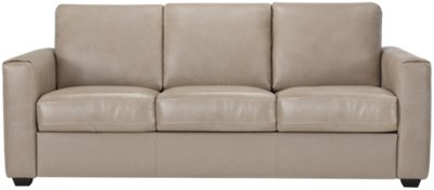 Sofa Taupe Lane Taupe Leather And Vinyl Sofa