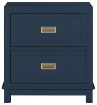 City Furniture: Ryder Dk Blue 2-Drawer Nightstand