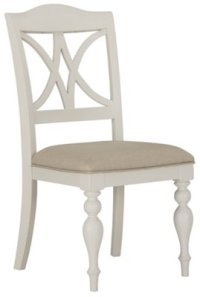Quinn White Wood Side Chair