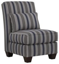 City Furniture: Amuse Blue Stripe Accent Chair