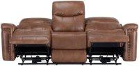 City Furniture: Wallace Medium Brown Microfiber Power ...
