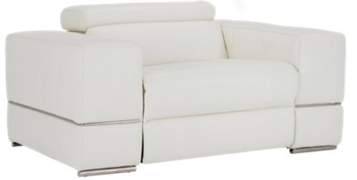Modern Living Room Recliners Dante White Leather Power Recliner Living Room Recliners