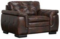 Trevor Dark Brown Leather Chair