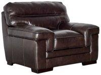 City Furniture: Alexander Dark Brown Leather Chair
