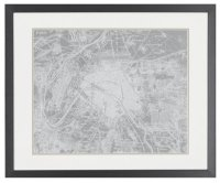 Atlas Gray Framed Wall Art