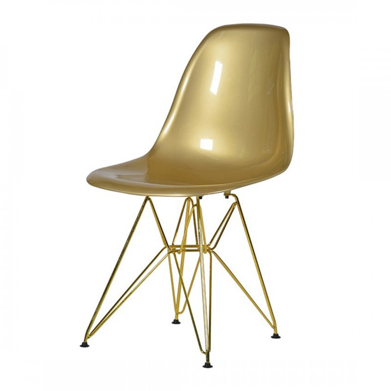 Gold Eames Style Chair Hire Designer Chair Hire London - Eames Chair London