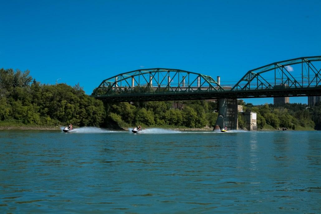 Recreational activities abound on the North Saskatchewan River