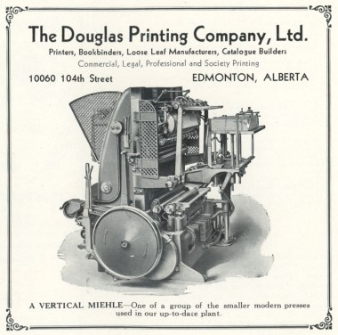 Advertisement for Douglas Printing Company Photo by Curios Studios