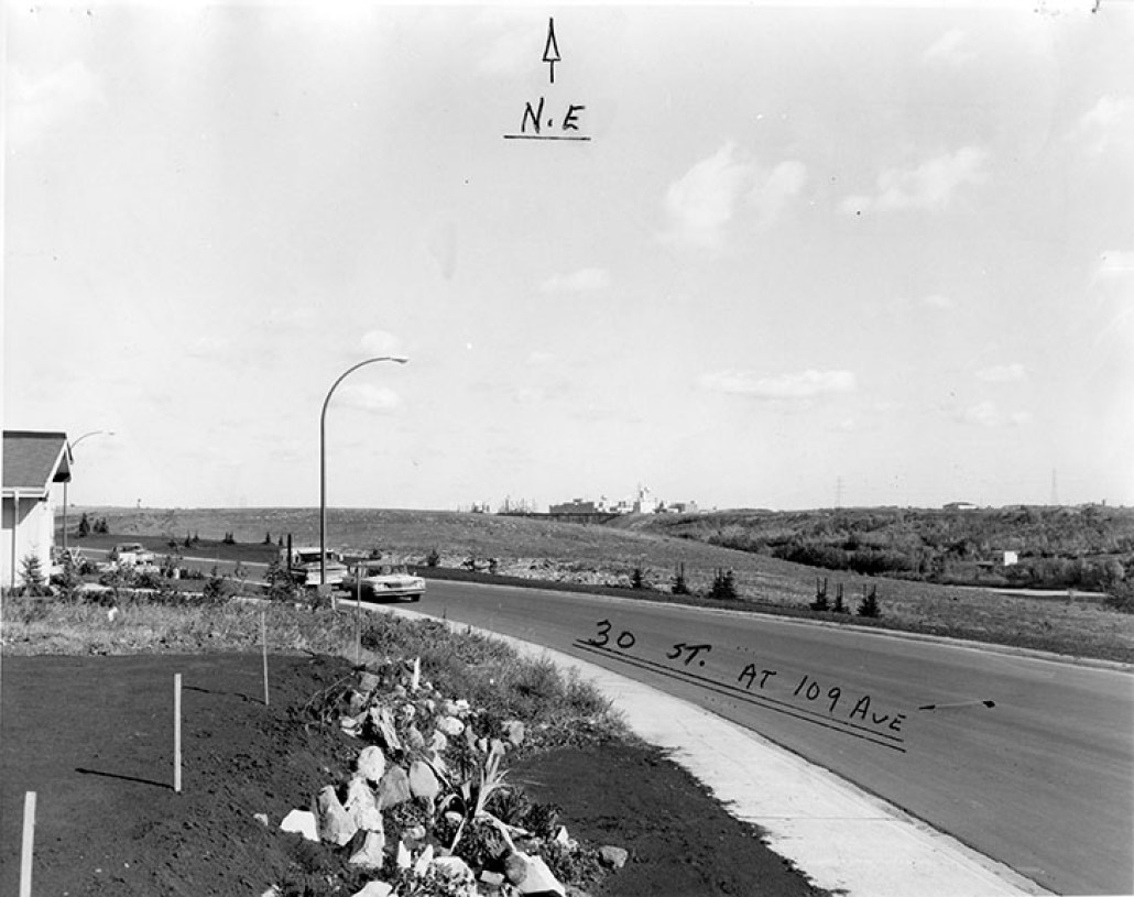Beverly Dump after conversion to park at 30th Street and 109th Avenue, circa 1970. Image courtesy of the City of Edmonton Archives.