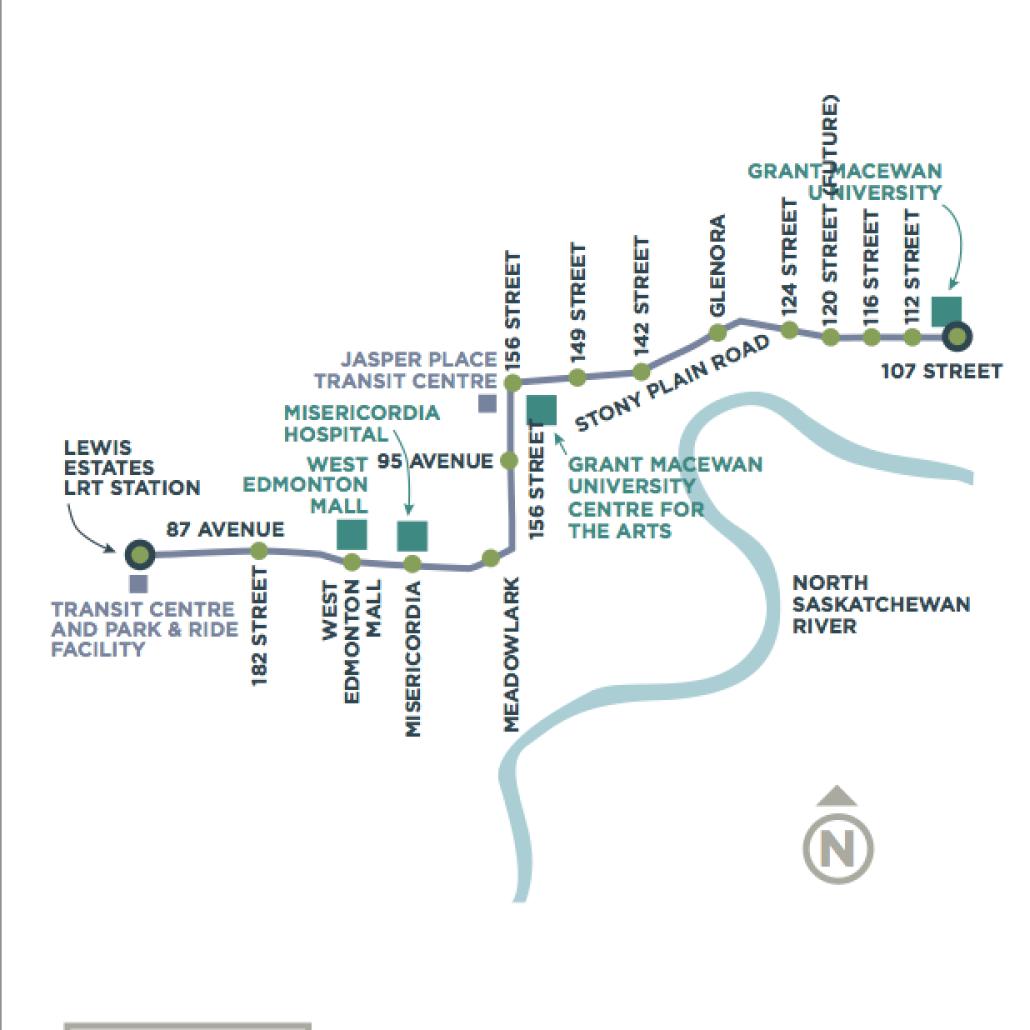 Future LRT Expansion. Via City of Edmonton.