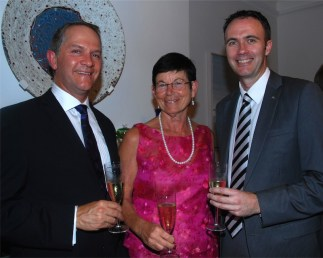 Hennie du Plooy, Anita Peterssen and Brad Webb