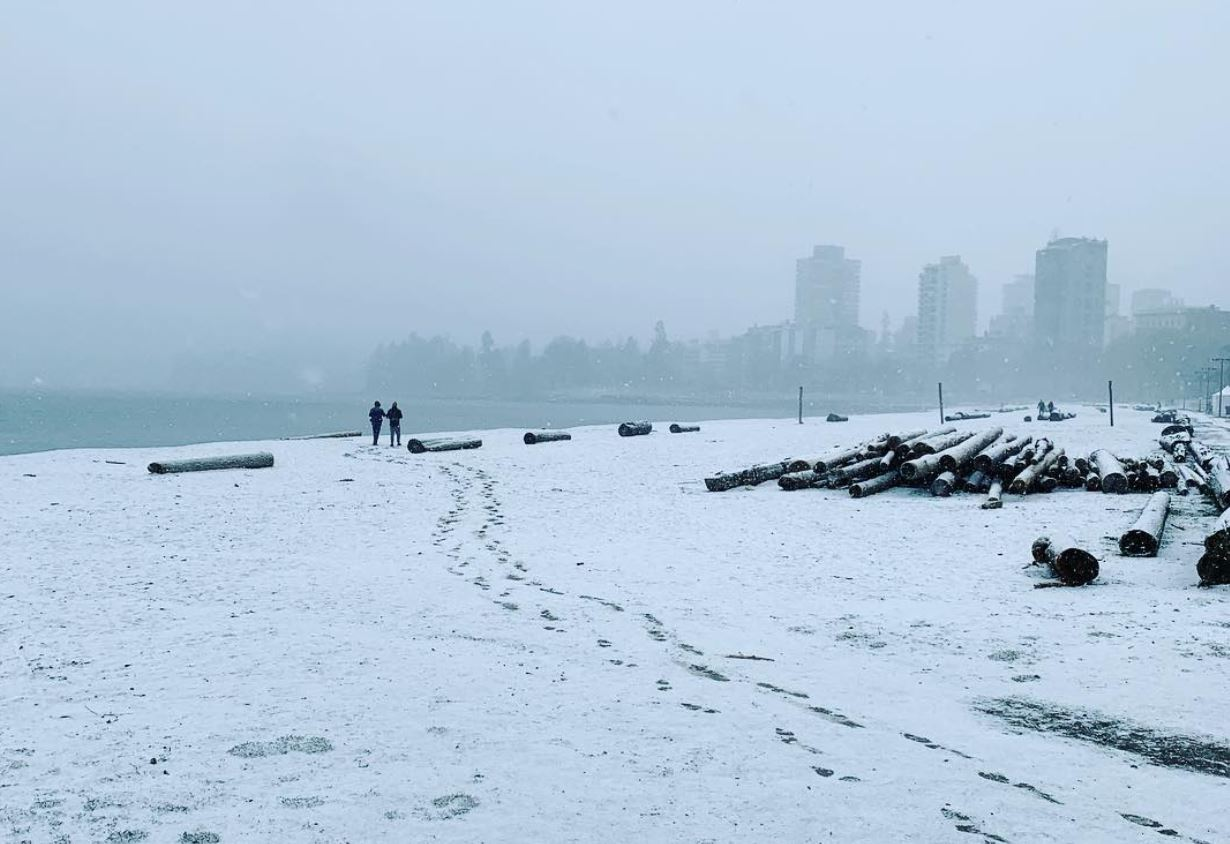 Vancouver Snowfall Warning In Effect As Metro Vancouver Is Covered In Snow