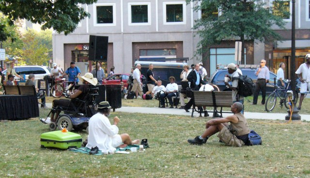 The well-used Farragut Square. Credit: Karen Rustad, Flickr