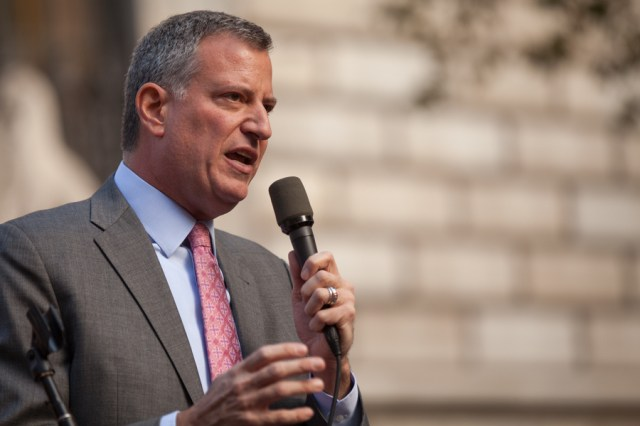 New York mayor Bill De Blasio has been expected to deal with a housing crisis in his city with little federal help. Credit: Kevin Case, Flickr