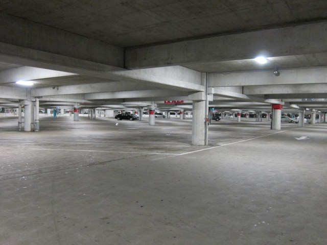 The parking garage of the future: empty? Credit: Joe Shlabotnik, Flickr