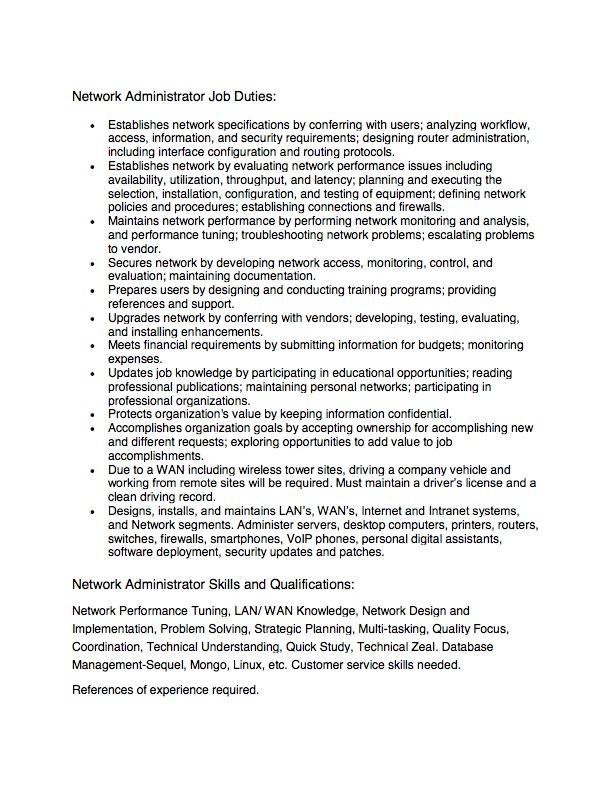 Network Administrator Job Opportunity - City Of Blakely, Georgia - administrator job description
