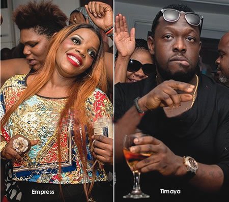 Image result for Timaya Singer, Empress Njamah still friends, hang out together