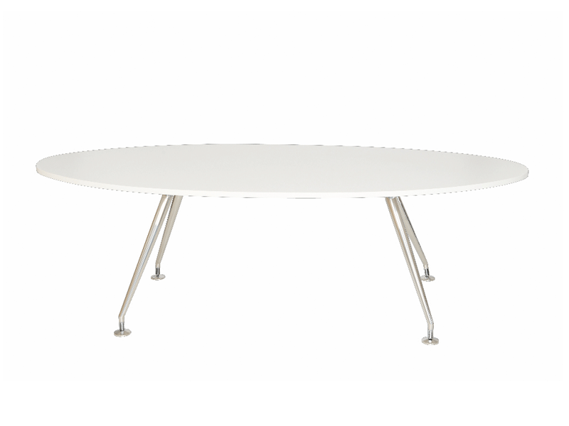 Rectangle Coffee Table Oval Boardroom Table - White - City Used Office Furniture