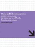 El Amor prohibido: uniones afectivas estables entre personas del mismo sexo en el Derecho Constitucional peruano