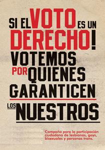 """20. Colombia: Campaña """"Vote bien…vote contra la homolesbobitransfobia; es cuestión de ciudadanía"""""""