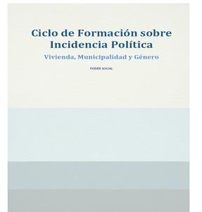 Ciclo de Formación sobre Incidencia Política.
